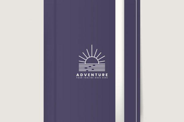 Premium journal cover design mockup